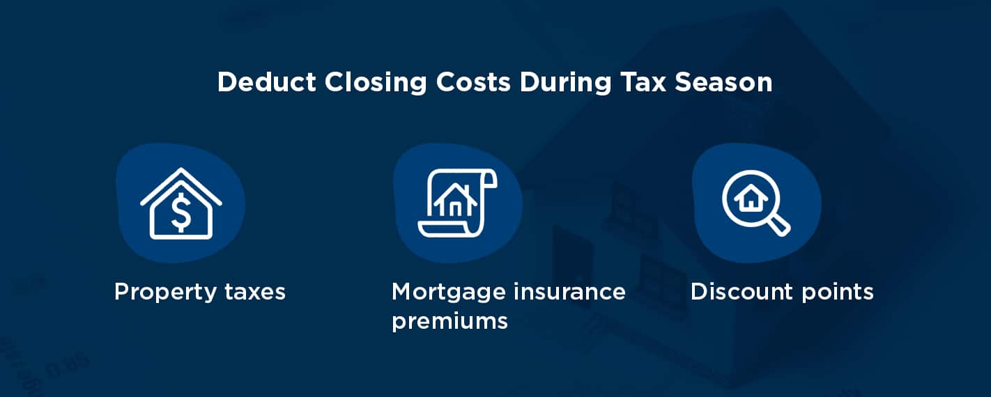 deduct closing costs during tax season