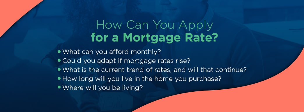 how can you apply for a mortgage rate?