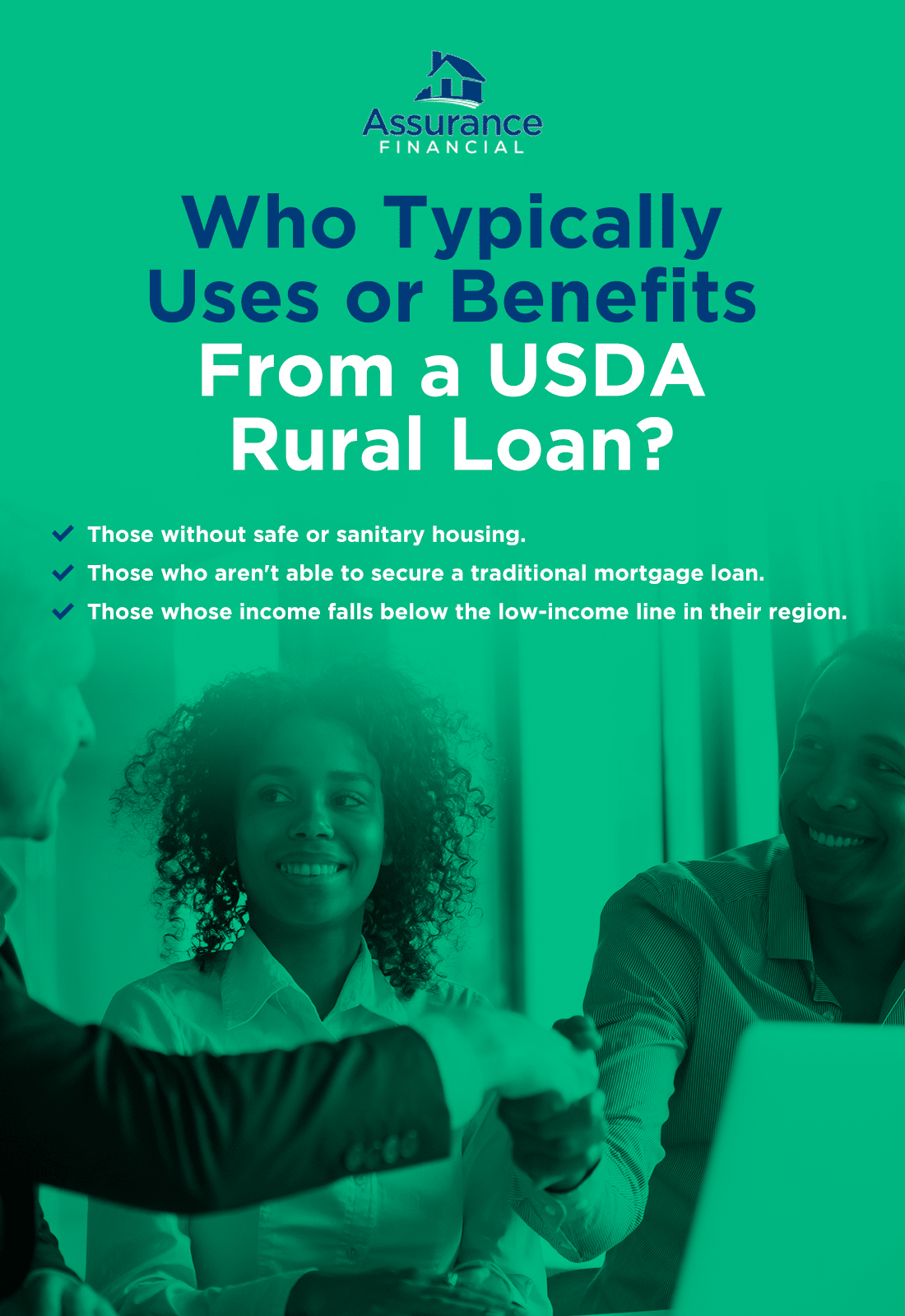 who typically benefits from a usda rural loan