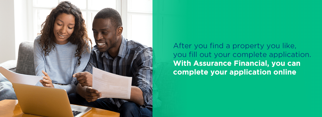 with assurance financial, you can complete your application online