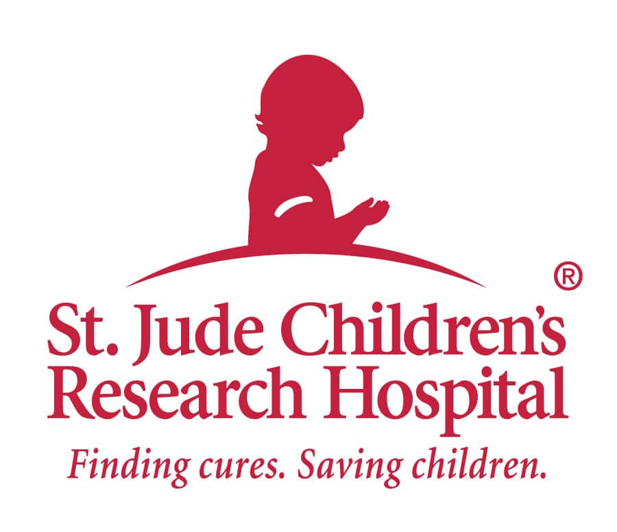 st judes logo on a white background