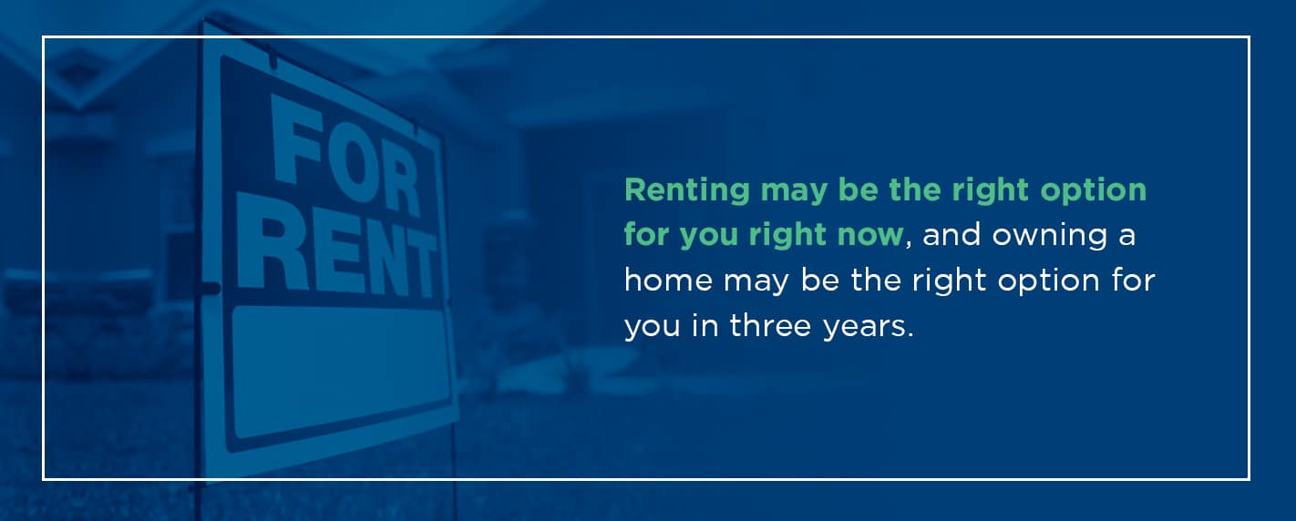 renting may be the option for you right now