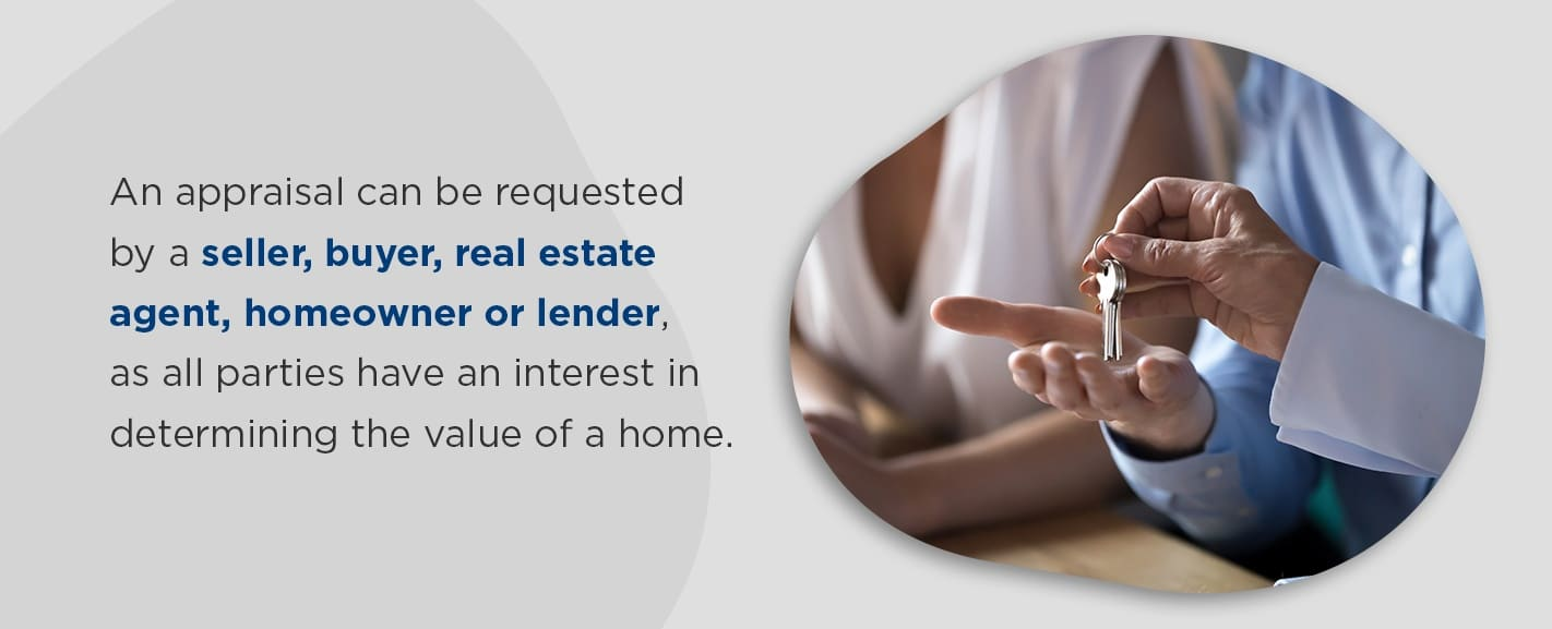 Who requests a home loan appraisal