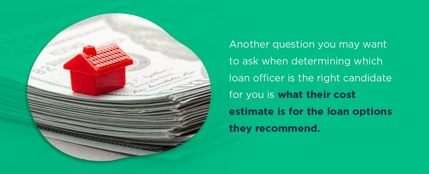 What is the cost estimate for the loans you recommend