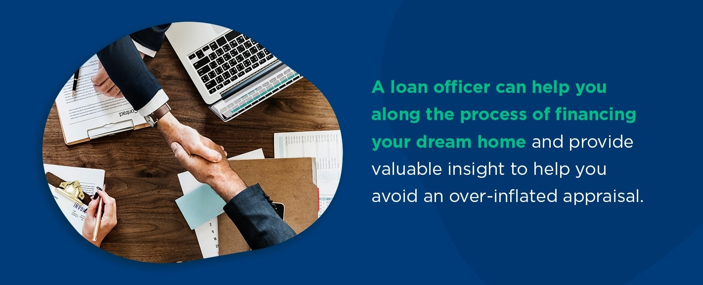 Seek help from a loan officer