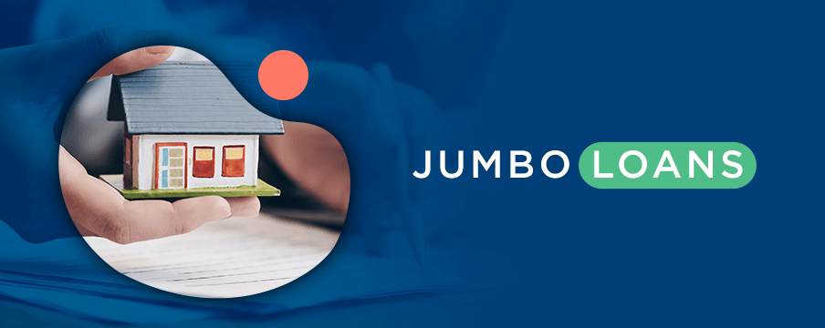 Jumbo Loans with person holding a house